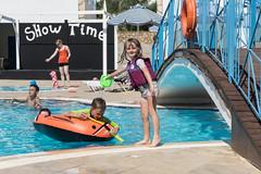Rhodes-15071213 (The Simpsons (Lee, Shirley, Luke and Rachel)) Tags: sunset holiday beach hotel donkey swimmingpool greece inflatable thomson sandcastle rhodes lindos lindiathalassa pefkiislands