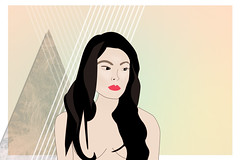 Illustrated Lady 7 (Bacoon) Tags: woman illustration photoshop drawing illustrator