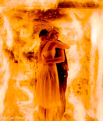 Lovers (Fire Light Photos) Tags: longexposure light lightpainting colour love beautiful fire hug flames dramatic lovers trail heat beauiful lighttrail firepainting