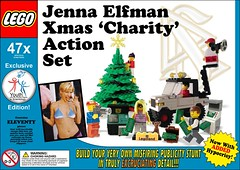 Jenna's Lego (marknpm1) Tags: xmas jenna set youth for lego action satire human rights scientology dollar ten donation spoof thousand scam legoland elfman shoop markpm frontgroup marksshoops marknpm