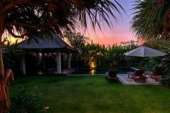 Sunset At The Villa (DaveFlker) Tags: sunset bali villa besar