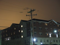 Strange skies behind the telephone pole (benchilada) Tags: strange skies telephone pole behind