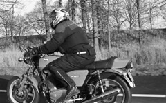 Driving the Laverda 1000 on the motorway (Arne Kuilman) Tags: kerst 2016 nederland netherlands trix iso400 f100 nikon 50mm 50mmf14 film scan kodak d76 homedeveloped v600 limburg blackandwhite laverda laverda1000 driving rijden motorcycle motorbike motorfiets motor italian nakedbike ontheroad me