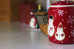 Red Cookie Jar for the Holidays (pvn_images) Tags: holiday christmas decor red cookie jar