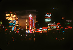 Las Vegas at Night — 1958 (ElectroSpark) Tags: goldennugget 1950s vintage nevada downtown