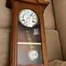 Mahogany wall clock