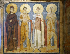 Theodotus and family, c. 741-752, Theodotus Chapel, Santa Maria Antiqua, Rome