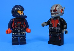 Small Heroes (MrKjito) Tags: lego minifig super hero crossover dc marvel cw cinematic universe atom ray palmer antman scott lang small size