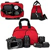 Vangoddy Mythra Red Medium Entry Level Canon DSLR & SLR Camera Bag For: Canon EOS Rebel T3, T3i, 12.2 MP, 18 MP, Canon EOS Rebel T2i 18 MP CMOS APS-C, Canon EOS Rebel T1i 15.1 MP CMOS, Canon EOS 60D CMOS, Canon EOS 7D CMOS, Canon EOS 5D Mark II (Mark 2) F (goodies2get2) Tags: amazoncom canon giftideas