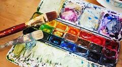 Farbkasten [Explored Jan 3, 2017] (G_E_R_D) Tags: seeon seebruck chiemsee bayern bavaria artgallery galerie farbkasten paintbox pinsel wasserfarben aquarell buntistmeinelieblingsfarbe