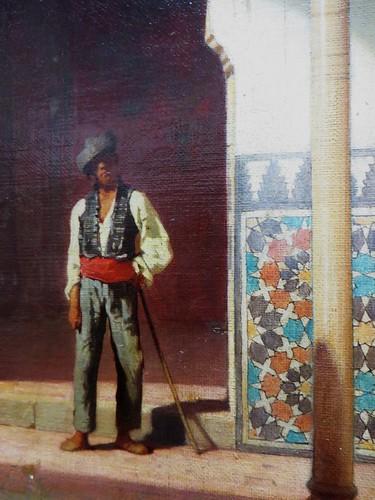 """""""Patio de Merxuar à l'Alhambra"""", détail, Achille Zo (1826-1901), Musée des beaux-Arts, Pau, Béarn, Pyrénées Atlantiques, Aquitaine, France."""