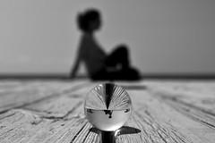 Meditación a orillas del mar (Explore, January 23rd, 2017) (osruha) Tags: meditación meditació meditation mar sea bola ball cristal cristall crystal blancoynegro blancinegre blackandwhite bn bw composición composition composició playa platja beach nikon d750 flickr