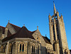 SUTTON, Surrey, Greater London - Trinity church (tonymonblat) Tags: london londonboroughofsutton sutton surrey uk britain england sunny bluesky church trinitychurch methodist methodism suttonsurrey architecture building stone religion christian