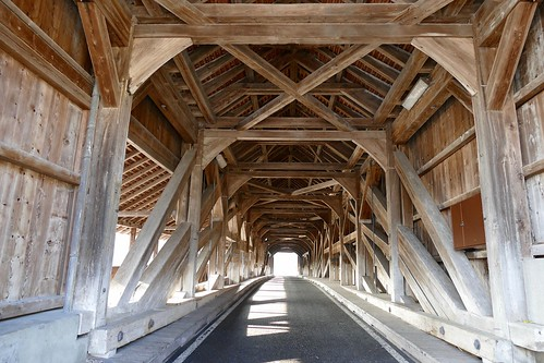 Alte Reussbrücke Sins old wood bridge 1808 Switzerland