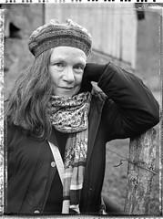 Isabelle - portrait - vallée de la Wormsa - Vosges (JJ_REY) Tags: isabelle portrait instantfilm peelapart bw largeformat 4x5 toyofield 45a sironarn 150mmf56 epsonv800 wormsa vosges france alsace polaroid pn55