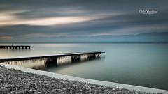 Contemplation (cedric.chiodini) Tags: le longexposure poselongue ponton lac lake eau water paysage landscape léman canon