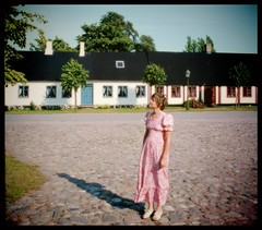 Wife in southern Sweden... 1970, still a teen... (iEagle2) Tags: analog analogue analogfilm colorslide ehefrau ektachrome female femme frau film minolta sweden summer srt101 scania skåne woman wife seventies 1970 teen teenager young