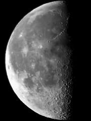 3rd quarter moon as seen today early morning from Kosice, Slovakia (traveltipy.com) Tags: kosice slovensko slovakia moon mesiac third quarter