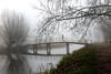 [Runner in the mist] (pienw) Tags: hff fence bridge mist runner