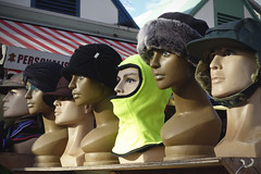 Off With Their Heads.. [16/365 2017] (steven.kemp) Tags: hat head balaclava norwich market stall dummy mannequin