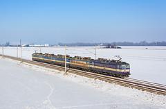 Cargo strudel   363.106 + 363.091 + 363.092 + 363.095 + 363.103   Rv 5.nsl.568511   Považany (lofofor) Tags: electric eso cargo rv rušeň 363 106 091 092 095 103 dvojčlen koridor sneh zima winter snow slovakia považany nadjazd nm