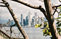 Around South American (The Spirit of the World) Tags: panama panamacity cityscape city urban trees pacificocean trade traderoute cruise centralamerica theamericas park plaza port film print analogphotography