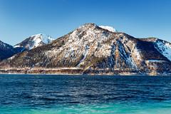 Herzogstand (lichtauf35) Tags: bluesky bavaria herzogstand pancake sl1 travelpics shorttrip water mountains sunshine heimgarten walchensee kindsofblue darkblue turquoise 1000views lichtauf35