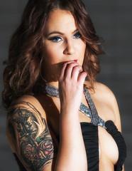 20170115-56-Edit-Edit (Toisto) Tags: women photoshoot dress glamour shadow nikon nikkor beautiful tattoo gir lmodel people portrait