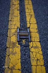 Double Yellow (searcysw) Tags: street road yellow warning art asphalt blacktop