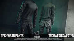[VALE KOER] TECHWEAR PANTS AND SWEATER (VALE KOER) Tags: vk vale koer valekoer second life sl secondlife tmd mesh mens department