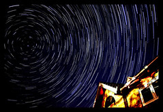 Star Trails (azem) Tags: sky canon stars eos star spring earth north trails 2006 astrophotography azem rotation astronomy polar fshnight