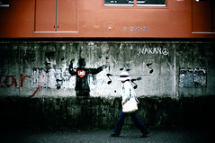 sanctuary:and the Music of Love (TommyOshima) Tags: leica graffiti tokyo f10 noctilux