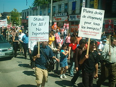 No One Is Illegal  National Day of Action - Toronto March, Saturday May 27, 2006 - 029 (HiMY SYeD / photopia) Tags: people toronto march civilrights socialjustice workersrights nooneisillegal immigrantrights