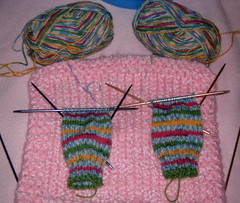 Striped Socks in Progress