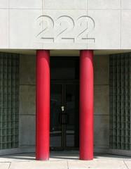 Two (O Caritas) Tags: ohio red 2 two pillar symmetry number toledo pillars 222 twos