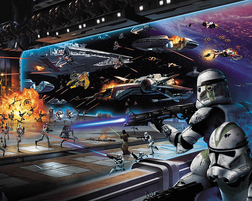 Concept art from Star Wars Battlefront 2 (PC, Xbox, PS2, PSP by Pandemic
