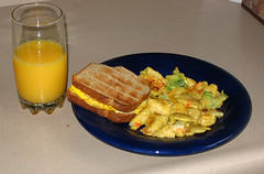 Cooking Adventures: Egg sandwich and vegetables