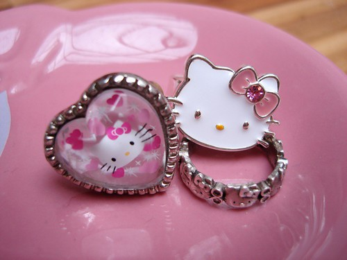 3 Anillos plata Hello kitty