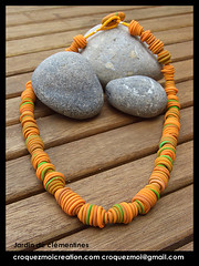 Jardin de clmentines (lavomatic) Tags: fashion collier  handmade unique main jewelry bijou clay jewels mode argile fait perle jewel vendre polymer polymre bijouterie croquezmoicreation croquezmoicreationcom croquezmoi croquezmoigmailcom plomyer
