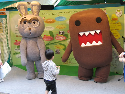 Usajii and Domo-Kun Life Sized por sanchome.