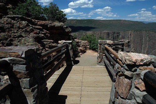 Footbridge, Black Canyon of the Gunnison National Park, Montrose,