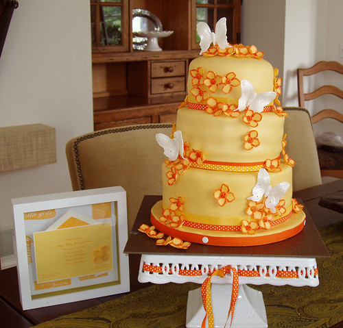 Eye Candy Orange Wedding Cakes photo 71286112