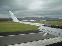 Touch Down (bluehorizon99) Tags: airplane airport aircraft wing landing boeing arrival 737 coffsharbour cfs virginblue