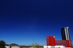 Red vs. Blue (cszar) Tags: blue sky construction nikon d70 wideangle tokina luxembourg dexia 1224mmf4
