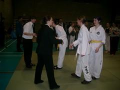 IUTF Intervarsities - UCD Sports Centre (February 2004) (irlLordy) Tags: ireland dublin 2004 club team lisa taekwondo trophy february vicki tkd iutf ucd lucie sportscentre intervarsities juniorladies