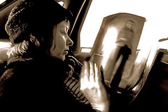 Suzanne Vega in Taxi (still frame) (Chris Seufert) Tags: new york chris film christopher documentary suzanne vega mooncusser seufert