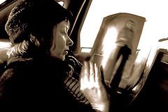 Suzanne Vega in Taxi (still frame) (Chris Seufert) Tags: new york chris film christopher documentary suzanne vega mooncusser seufert