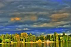 Black Lake, Washington (Jenni Reynolds-Kebler) Tags: sunset sky lake black clouds washington 100views mapping tone hdr 700views blacklake photomatix tonemapping 10favorites i500 100plusgroup