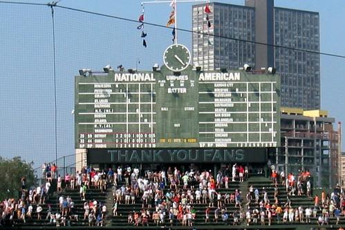 Chicago: Wrigley Field - Scoreboard by wallyg
