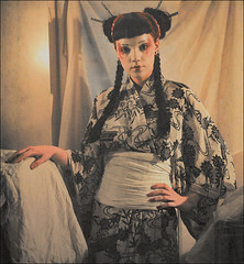 . Variations On A Theme . Pt.2 . (3amfromkyoto) Tags: camera 2001 light red woman 120 6x6 mamiya film girl mediumformat hair kate yukata theme sheet medium format mf lipstick braids variations variation c330 3amfromkyoto flickr:user=3amfromkyoto